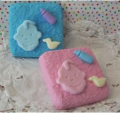 Baby Bottle and Duckie Soap Bar Mold