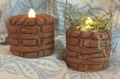 Basketweave Flicker Pillar Candle Mold