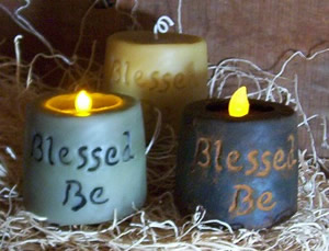 Blessed Be Solid and Flicker Candle Mold