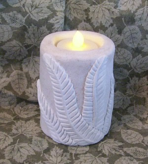 Botanical Ferm Flicker Pillar Candle Mold