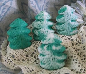Pine Christmas Tree Soap and Wax Mold