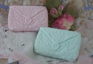 Pretty Lace and Envelope Soap Bar Mold