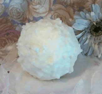 Large Snowball Solid Candle Mold