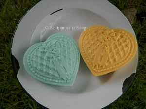 Love and Lace Heart Soap Mold