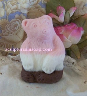 Baby Bear Soap, Beeswax and Wax Mold
