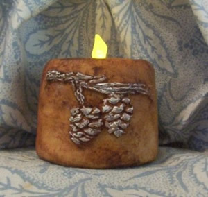 Pine Cone Switzler Flicker Candle Mold