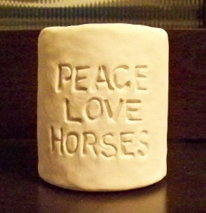Peace, Love, Horses Solid Pillar Candle Mold