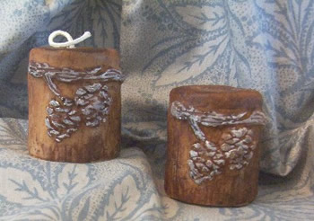 Pinecone Pillar and Beeswax Candle Mold