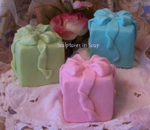 Gift Present Soap and Candle Mold