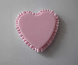 Ruffled Heart Soap Mold