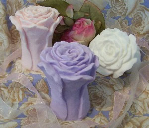 Ruffled Rose Bloom Soap Mold