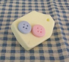 Two Button Hang Tag Soap and Wax Mold