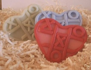 Tic Tac Toe Heart Soap Mold